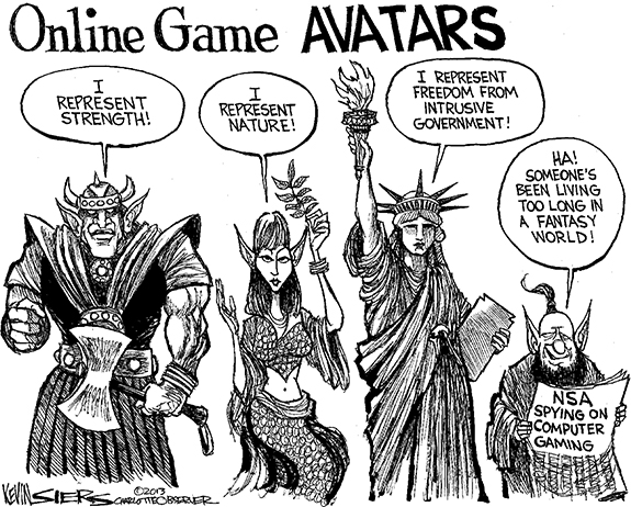 Editorial Cartoon: Avatars