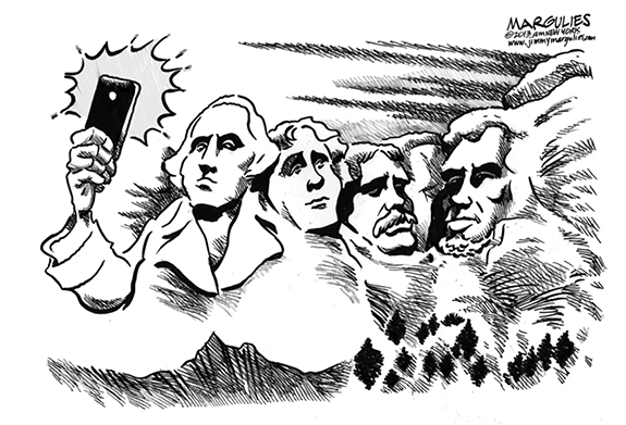 Editorial Cartoon: Selfies