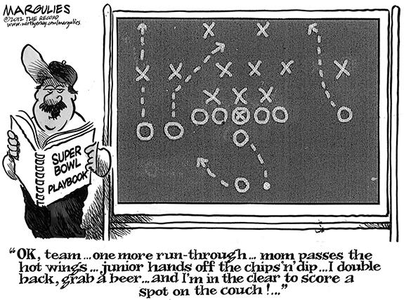 Editorial Cartoon: Playbook