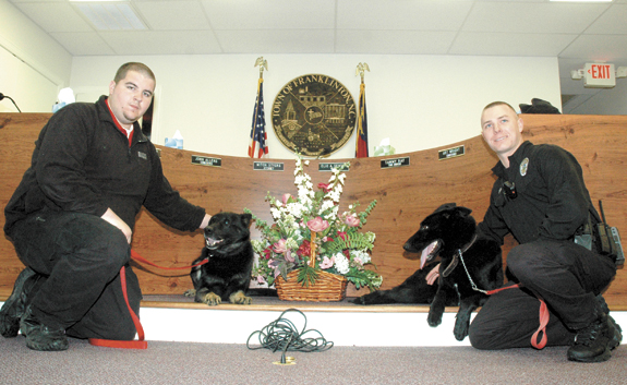 <i>New, four-footed officers patrol F-ton</i>