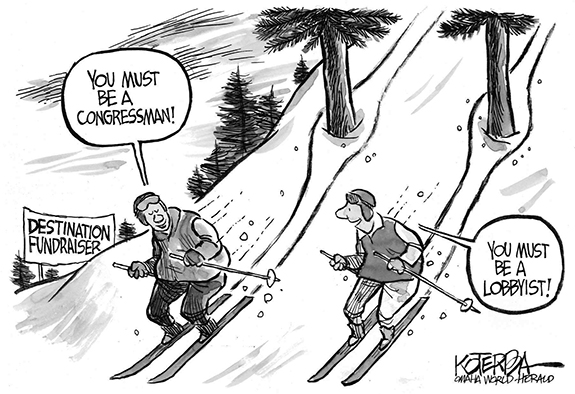 Editorial Cartoon: On the Slopes
