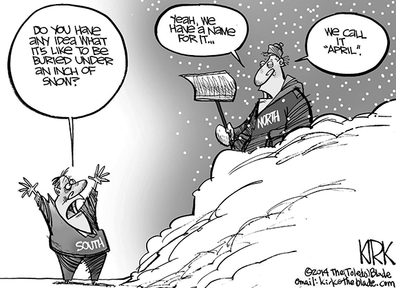 Editorial Cartoon: Snow