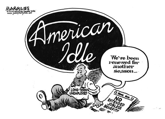 Editorial Cartoon: American Idle