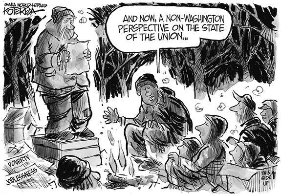 Editorial Cartoon: State of the Union