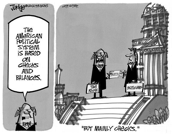 Editorial Cartoon: Checks