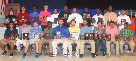 LOUISBURG HIGH SCHOOL BOYS SUPERLATIVES FROM AWARDS CEREMONY