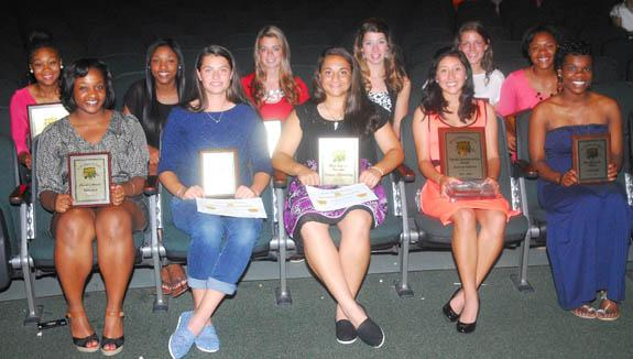 AMONG BUNN HIGH SCHOOL'S GIRLS ATHLETIC AWARD WINNERS