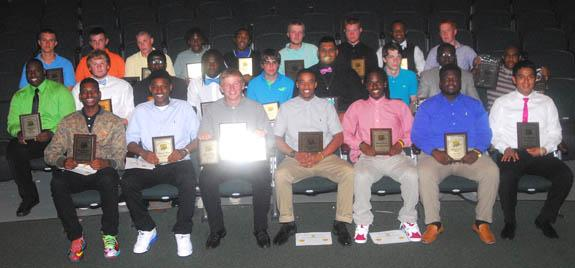 AMONG BUNN HIGH SCHOOL'S BOYS ATHLETIC AWARD WINNERS
