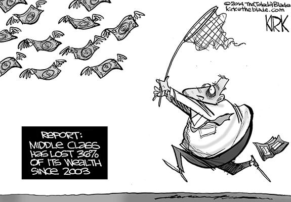 Editorial Cartoon: Middle Class