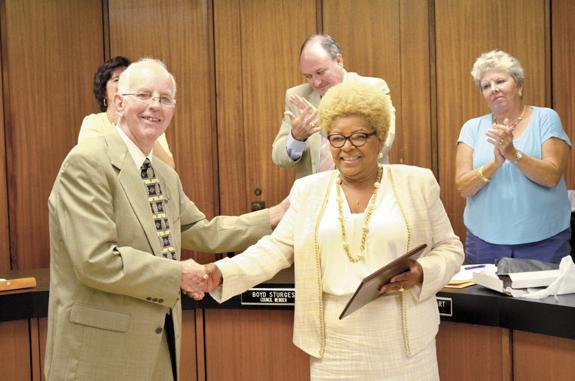 <i>Veteran L-burg council member honored</i>
