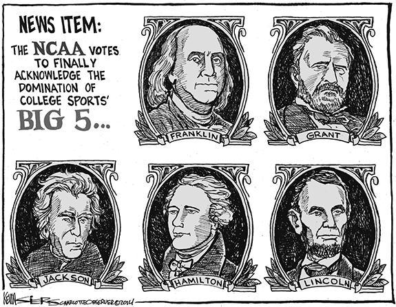 Editorial Cartoon: NCAA