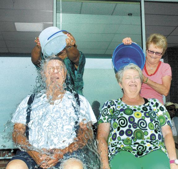 Seniors accept ice bucket deluge to raise money