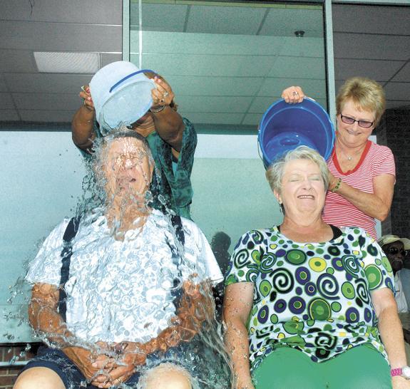 Seniors accept ice bucket deluge to raise money