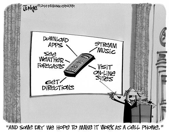 Editorial Cartoon: Cell Phone