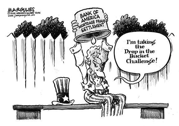 Editorial Cartoon: Bank Challenge