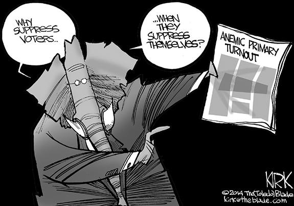 Editorial Cartoon: GOP Suppression