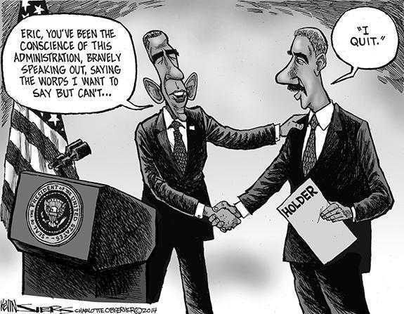 Editorial Cartoon: Holder