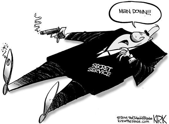 Editorial Cartoon: Secret Service