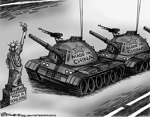 Editorial Cartoon: Hong Kong