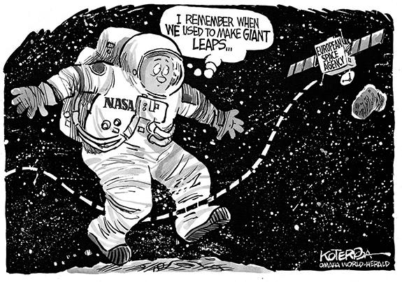 Editorial Cartoon: Giant Leap