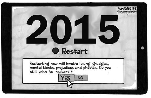 Editorial Cartoon: Restart
