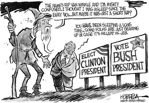 Editorial Cartoon: Bush/Clinton