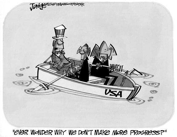 Editorial Cartoon: Progress