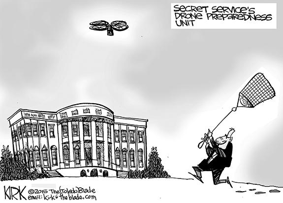 Editorial Cartoon: Drone