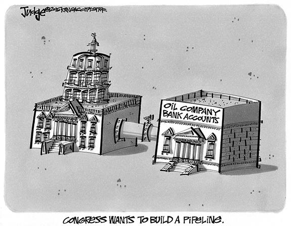 Editorial Cartoon: Pipeline