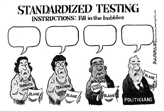 Editorial Cartoon: Testing