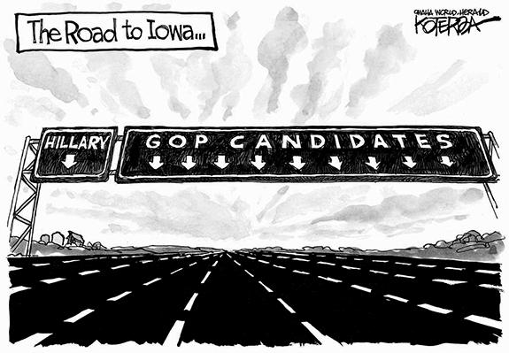 Editorial Cartoon: Iowa