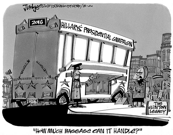 Editorial Cartoon: Baggage