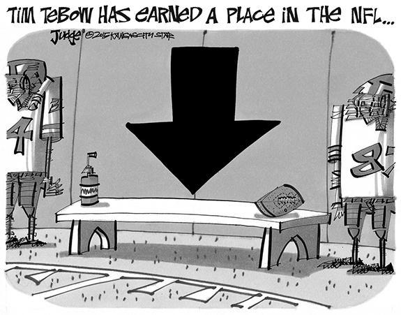 Editorial Cartoon: Tim Tebow
