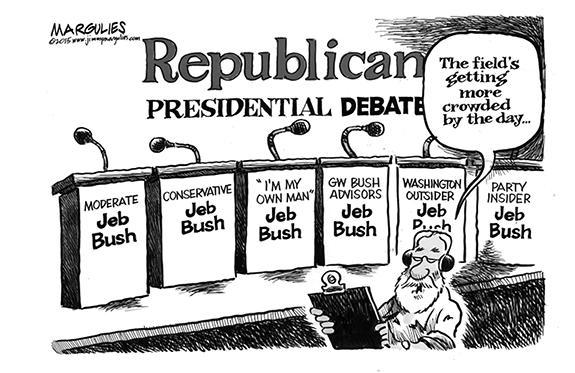 Editorial Cartoon: Bush