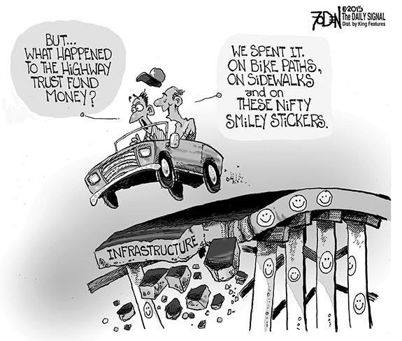 Editorial Cartoon: Highway Money