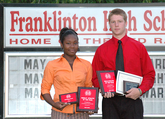 Patterson, Vick earn Franklinton's Athlete of the Year honors