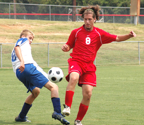 LHS shows skills at soccer event
