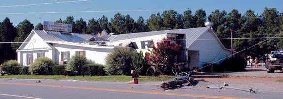 Breaking News: 18 Wheeler crashes into Youngsville restaurant
