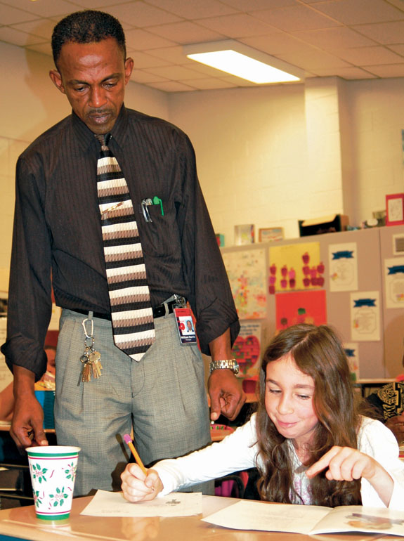 LES principal draws on family experiences, serves as role model for student inspiration