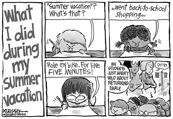 Editorial Cartoon: Summer
