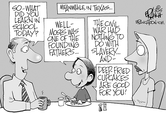 Editorial Cartoon: Texas Education