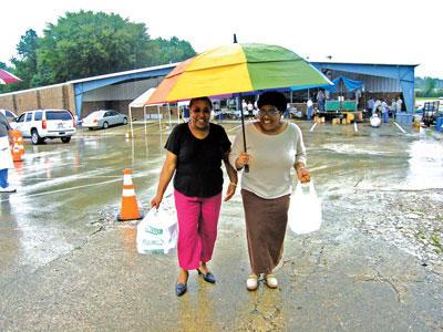 Shriners shine at rainy-day fish fry