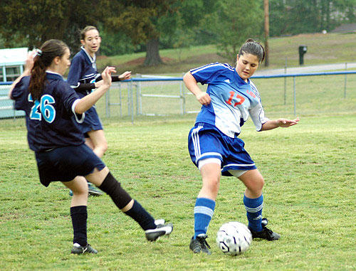 <FONT SIZE=6>Soccer Shutout</font><br><FONT SIZE=4>Lady Warriors blank Southern in league matchup</FONT>