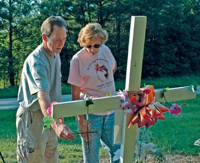 Family, friends continue memorial off Cedar Creek Road