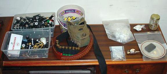 Guns, drugs seized from Louisburg home